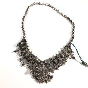 NWOT Silver Vintage Boho Choker/Necklace